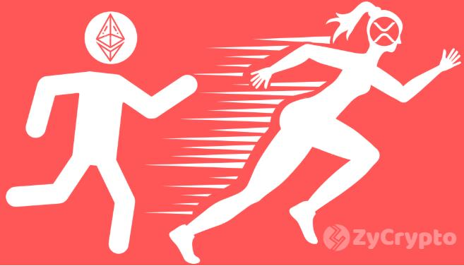 Ethereum Price Plummets As XRP and ETH Battle Over the Second spot